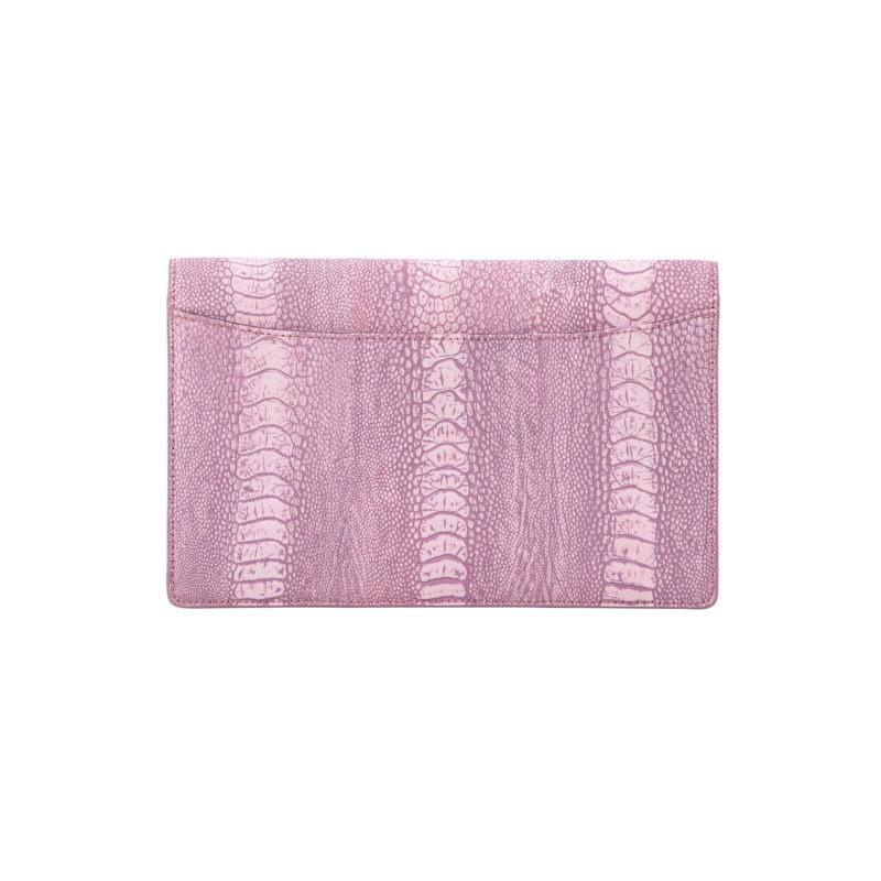Ivy in Stone Wash Pink Ostrich Leg 3