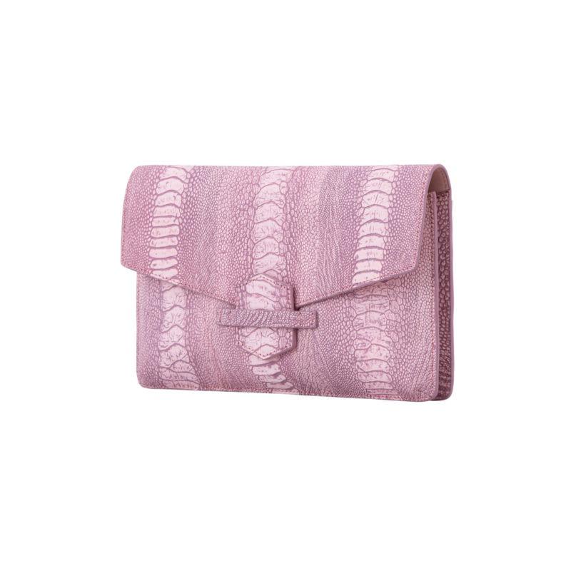 Ivy in Stone Wash Pink Ostrich Leg 2