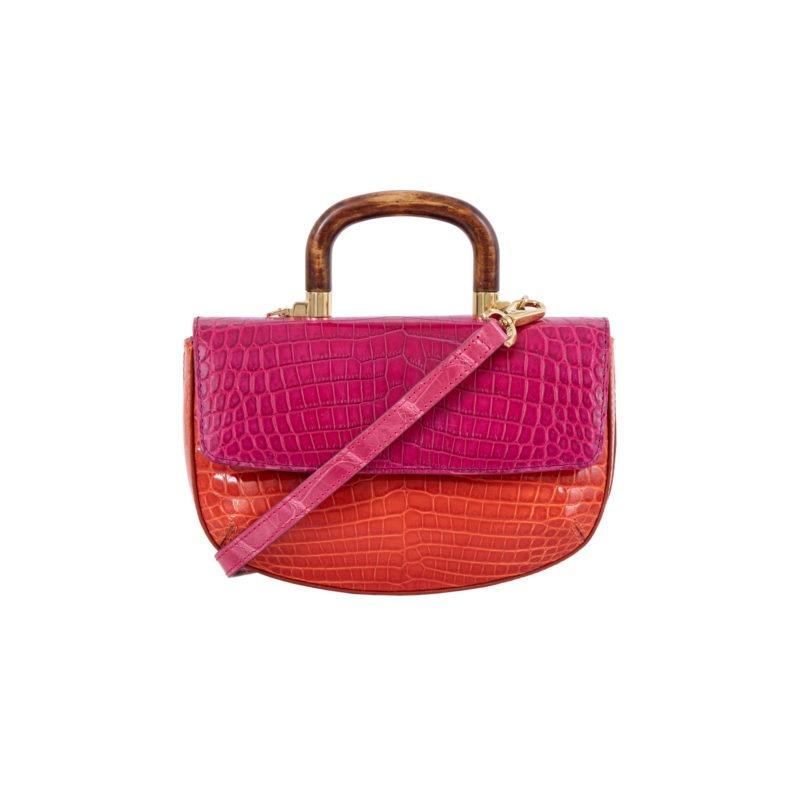 Picco in Pink/ Orange Crocodile 1