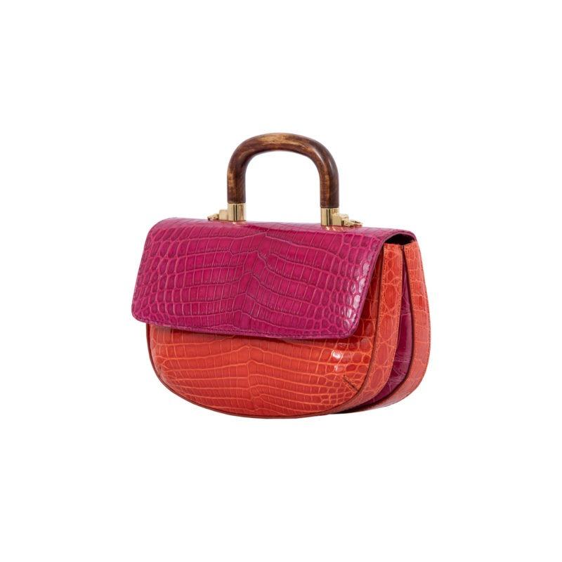 Picco in Pink/ Orange Crocodile 3