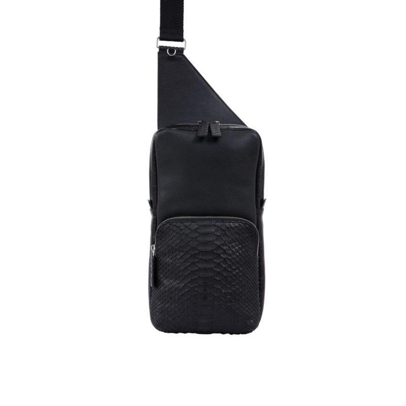 Orion Chestbag Black Python & Nappa 1