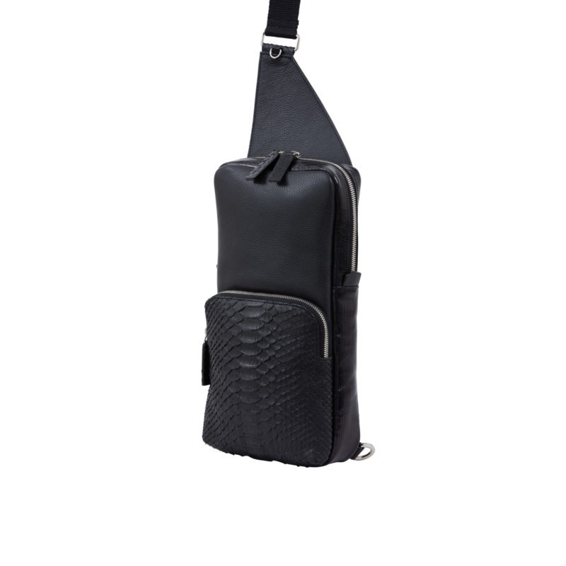Orion Chestbag Black Python & Nappa 2