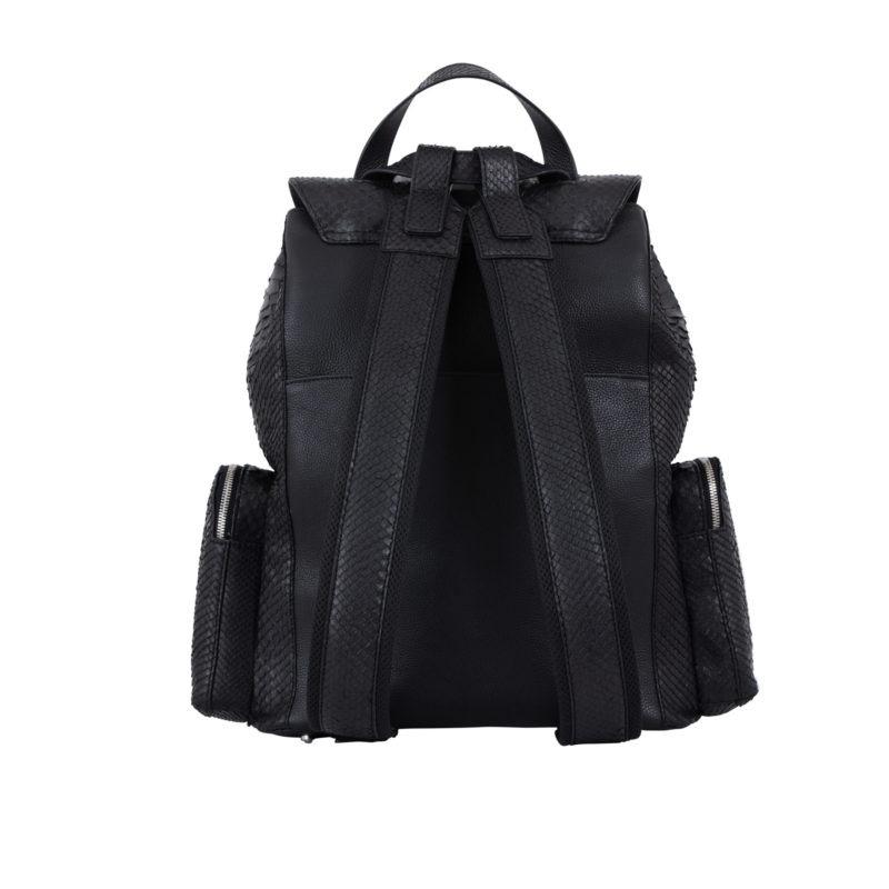 Utility Backpack Black Python & Nappa 3