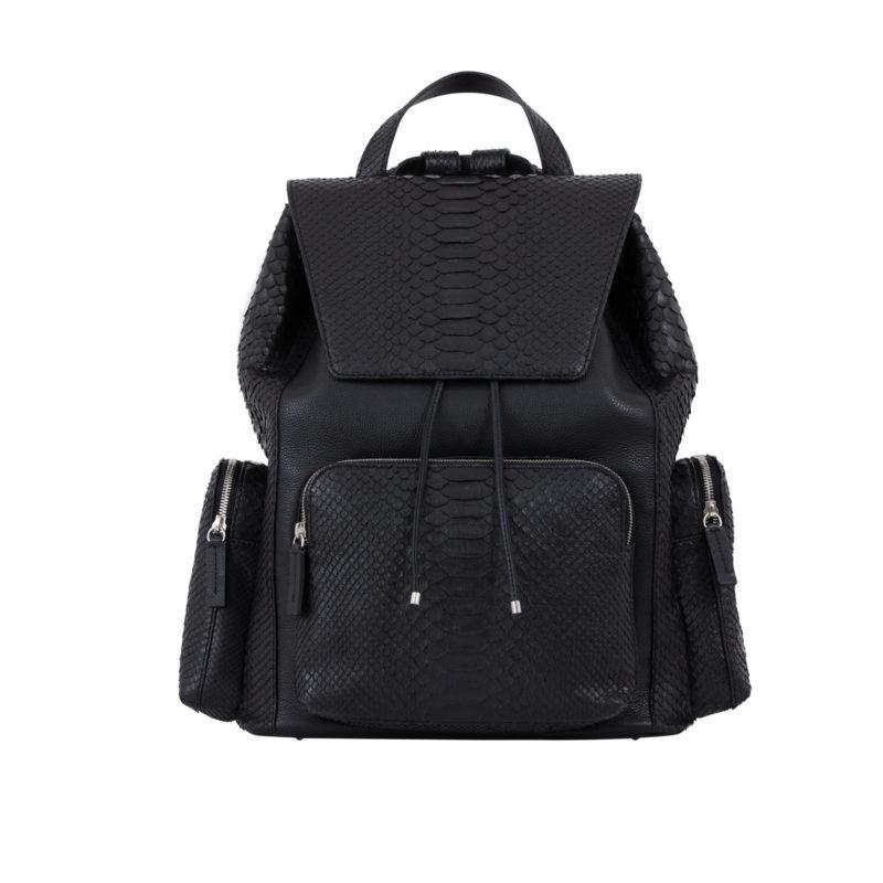 Utility Backpack Black Python & Nappa 1