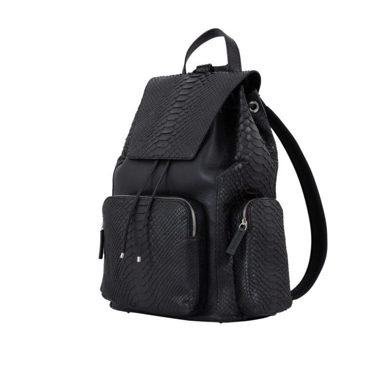Utility Backpack Black Python & Nappa 2