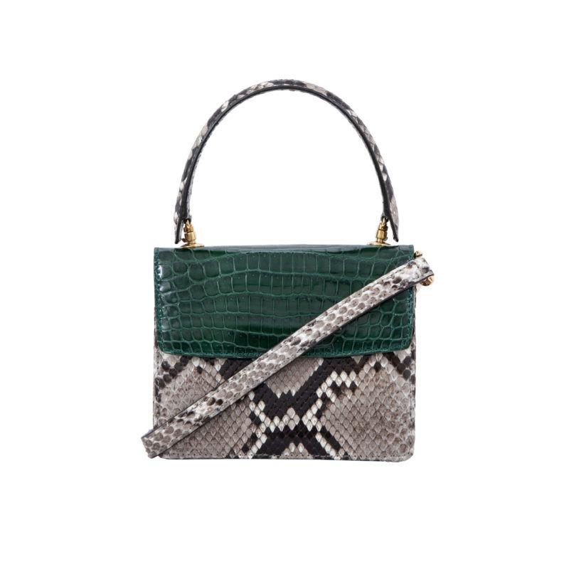 Mini Maxi in Green crocodile & Python combination 3