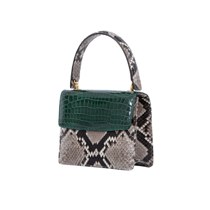 Mini Maxi in Green crocodile & Python combination 2