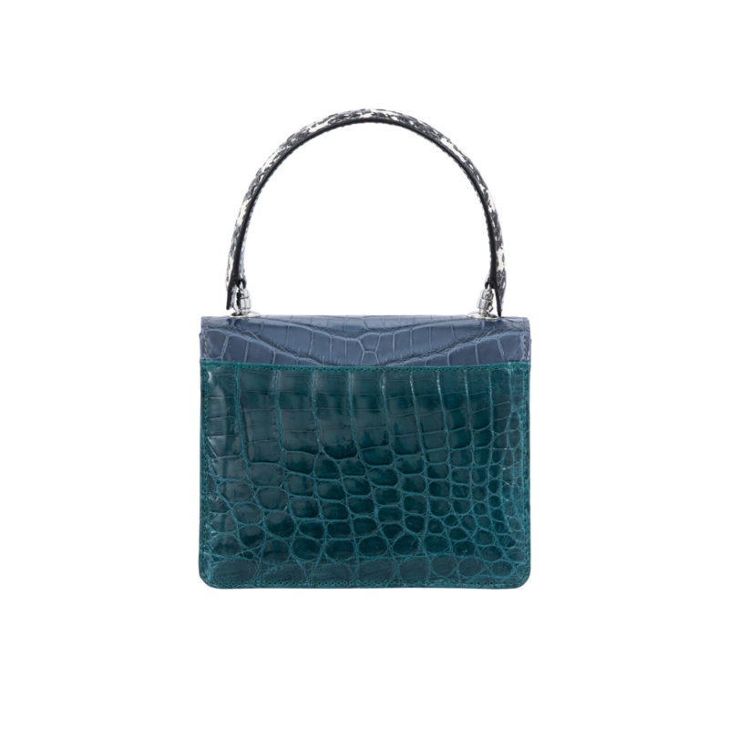 Mini Maxi in Blue crocodile & snake combination 4