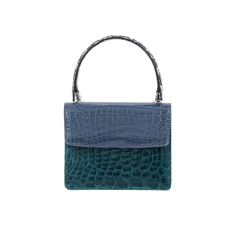 Mini Maxi in Blue crocodile & snake combination 1