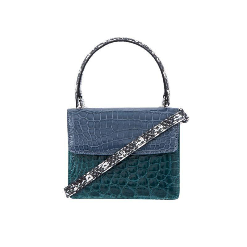 Mini Maxi in Blue crocodile & snake combination 3