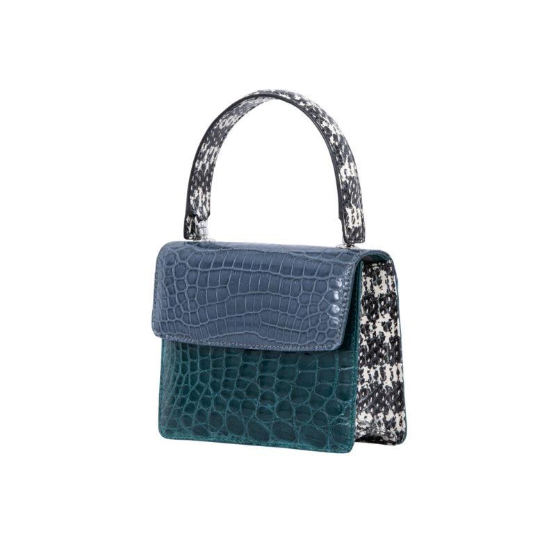 Mini Maxi in Blue crocodile & snake combination 2