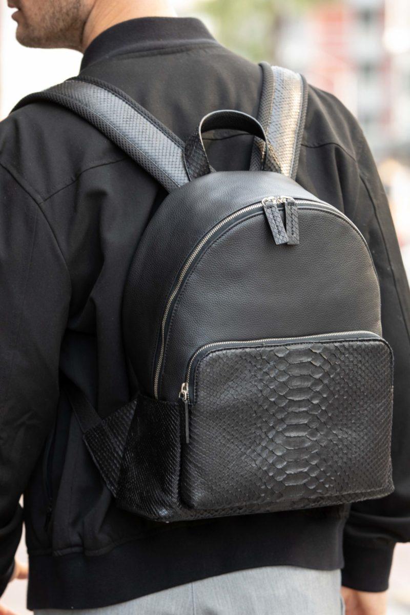 Urban Backpack Black Python & Nappa 4