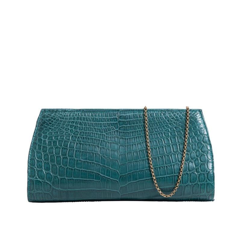 Anne Petrol Blue Crocodile 1