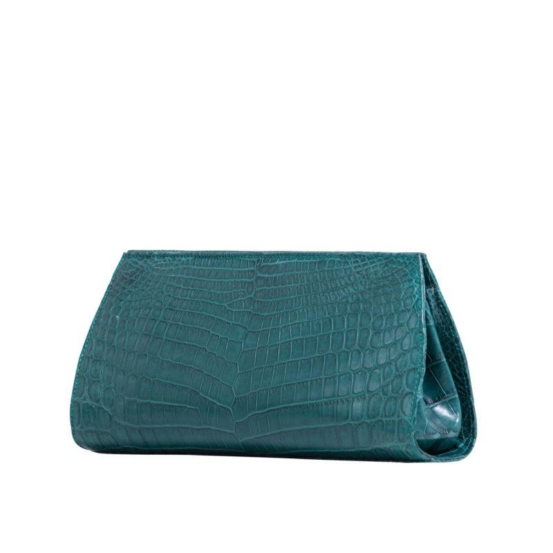 Anne Petrol Blue Crocodile 3