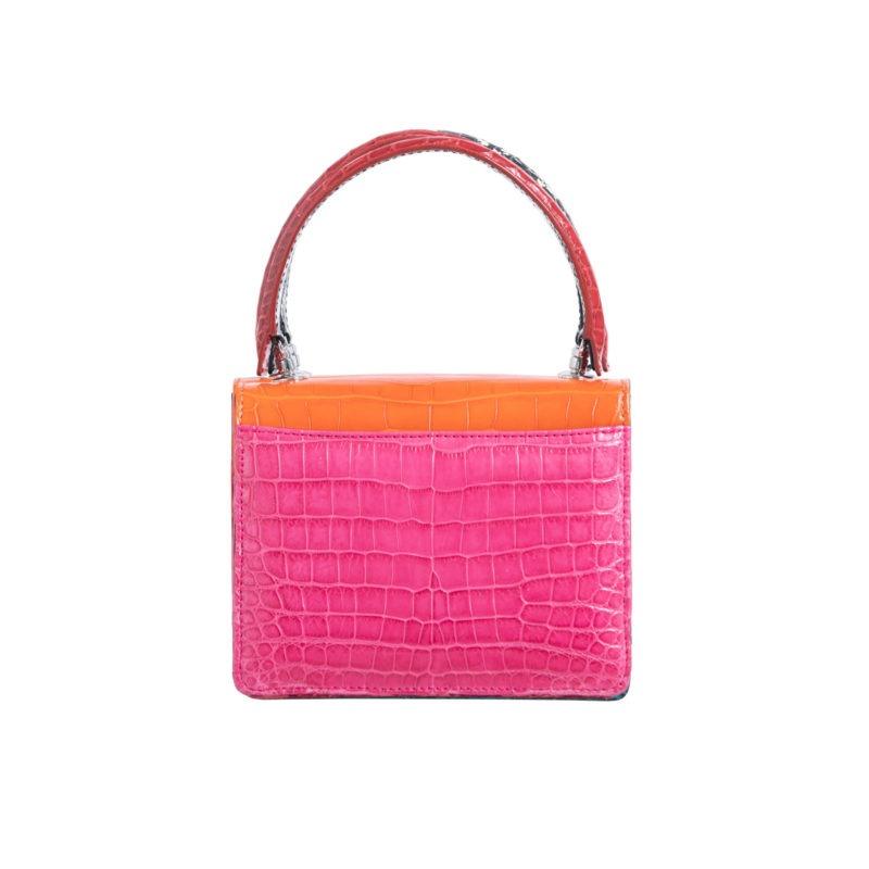 Mini Maxi in Tangerine & Pink Crocodile Combination 4