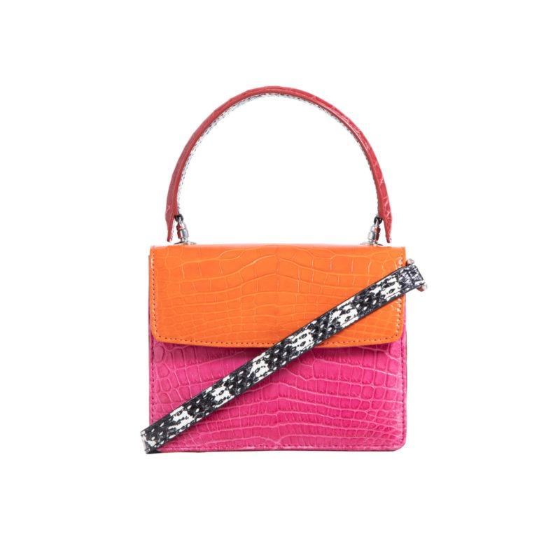 Mini Maxi in Tangerine & Pink Crocodile Combination 3