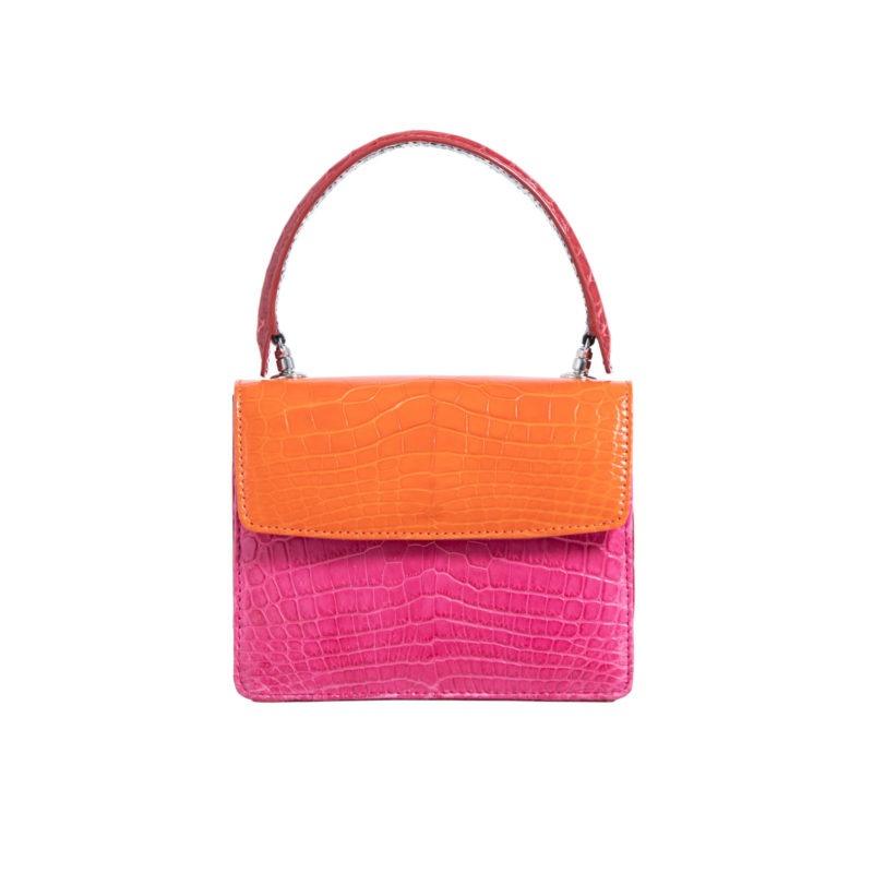 Mini Maxi in Tangerine & Pink Crocodile Combination 1
