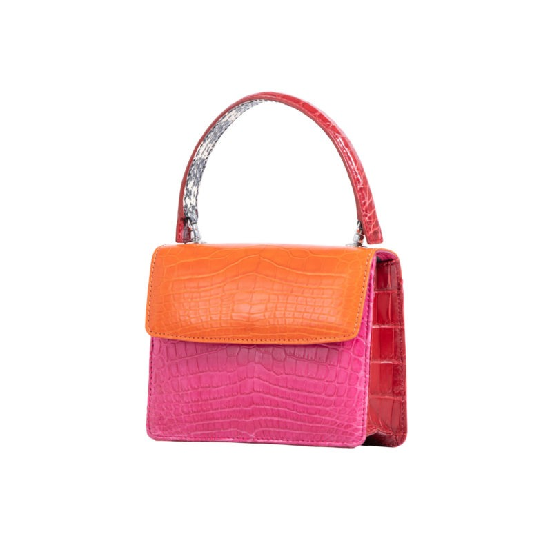 Mini Maxi in Tangerine & Pink Crocodile Combination 2